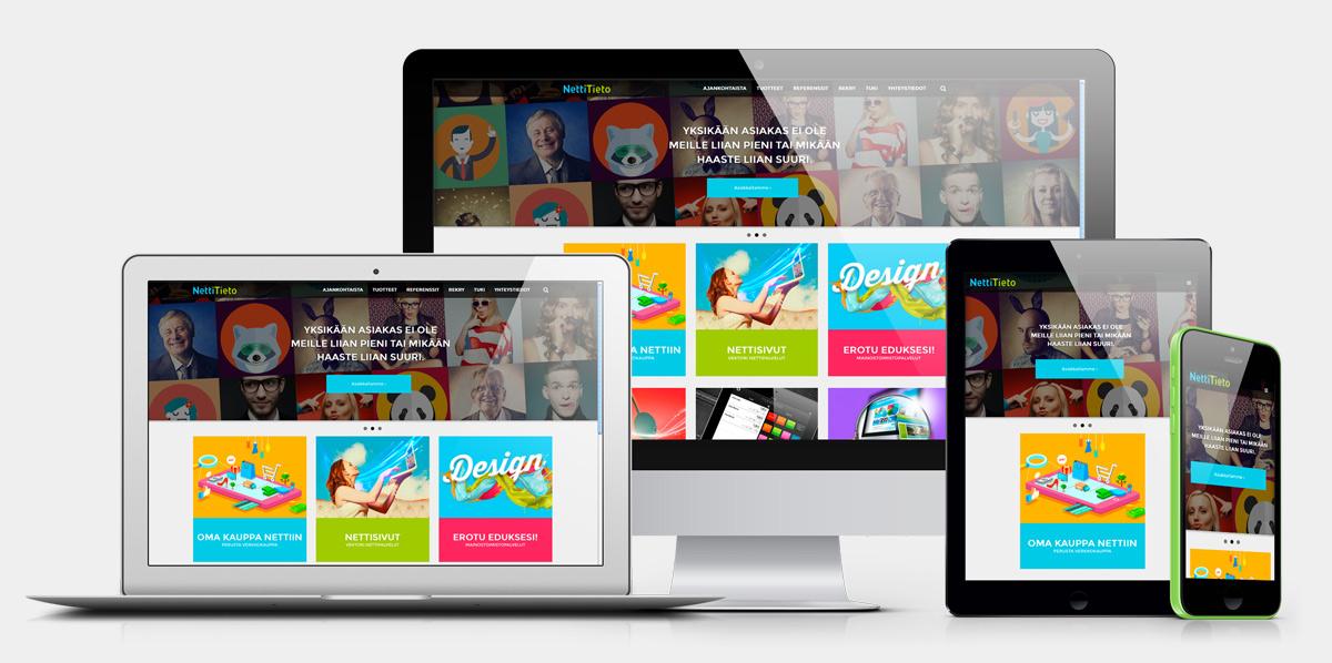 NettiTiedon responsiiviset nettisivut toimii kaikilla laitteilla